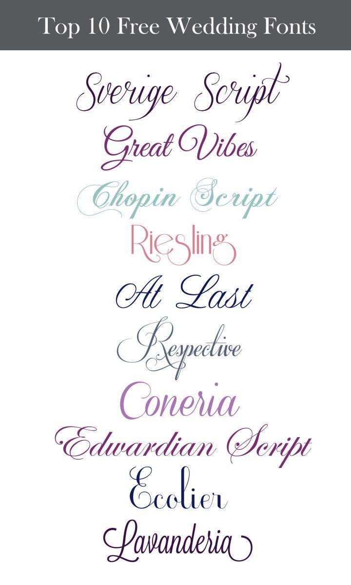 Inspiration Wednesday: Free Wedding Fonts