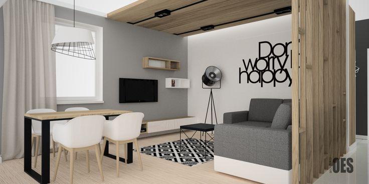 #drewnianysufit drewno w salonie, nowoczesny salon