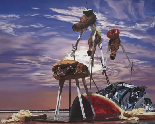 """Till Rabus' """"Surrealist Camping Lunch"""""""