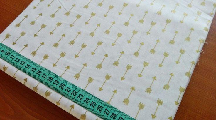 100% Cotton Designer Craft Brother Sister Design Studio Gold Arrows Cream Fabric in Crafts, Fabric | eBay!