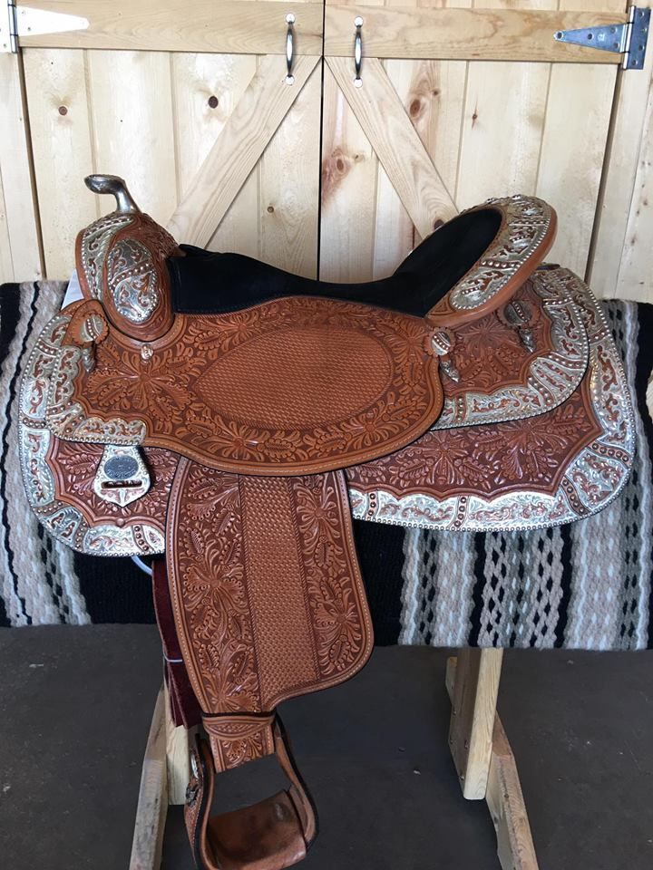 """17.5"""" STUNNING Dale Chavez Show Saddle with Copper Inlay #DaleChavez"""