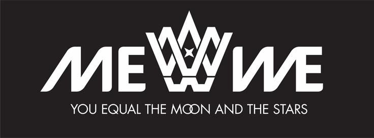 *  Olet yhtä kuin kuu ja tähdet  *    Me We:n #logo & #slogan. Suunnittelijat Mikko Pitkänen ja Anu Hame.