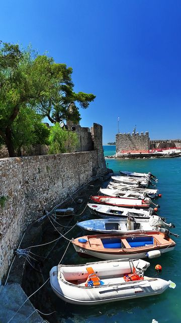 Nafpaktos Port, Greece - by Spiros Vathis