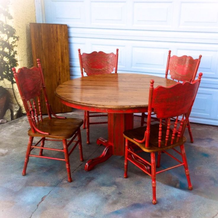 best 25+ red kitchen tables ideas only on pinterest | paint wood
