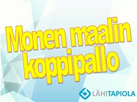 Monen maalin koppipallo - YouTube