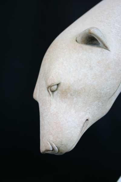 Bronze Wild Animals and Wild Life sculpture by artist Adam Binder titled: 'Sinking Feeling (Polar Bear on Iceflow sculpture/statuette/statue)'