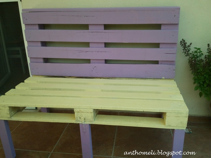 Made with pallets - Ανθομέλι: Ένα καναπεδάκι από παλέτες