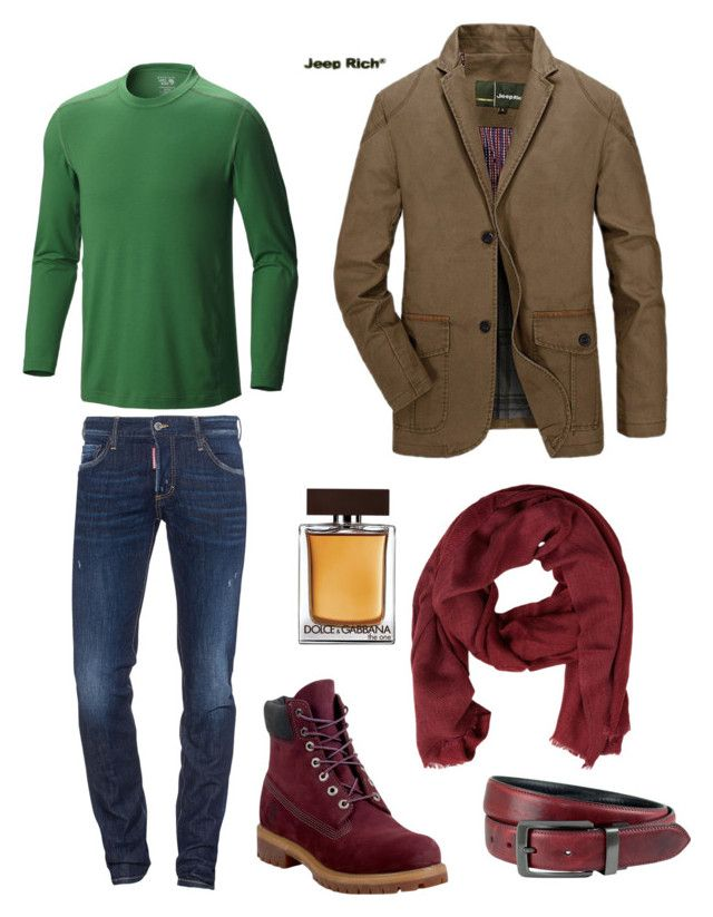 """""""Уютный лук"""" by eugene-k on Polyvore featuring Dsquared2, Jeep Rich, Mountain Hardwear, Timberland, Dolce&Gabbana, The British Belt Company, MANGO MAN, men's fashion and menswear"""