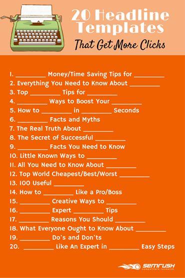 Great headlines & blogpost themes #blogging #headline
