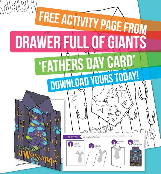 Check it out! Free Fathers Day Card from drawerfullofgiants.com