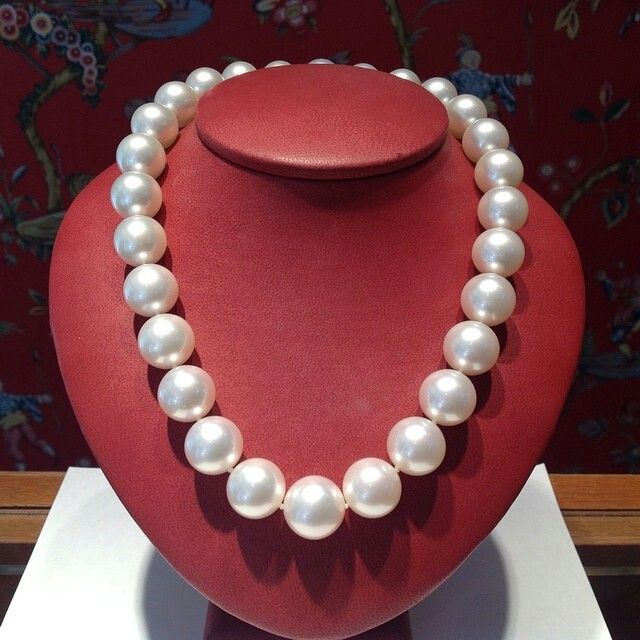 Fabulously beautiful 15 mm South Sea Pearls! #pearls #southseapearls #whitepearls #largepearls #lustrouspearls