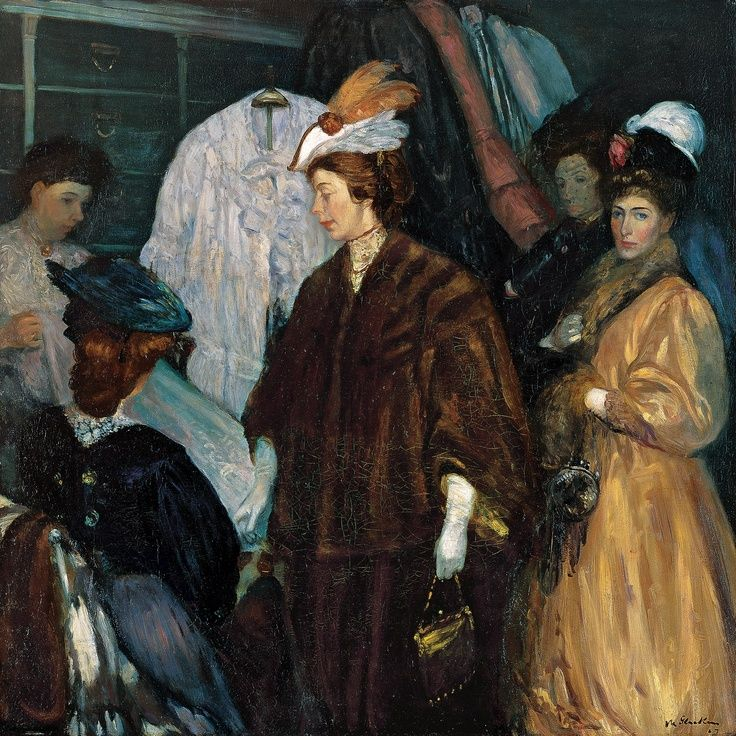 The Shoppers ~ William James Glackens ~ (American 1870-1938)