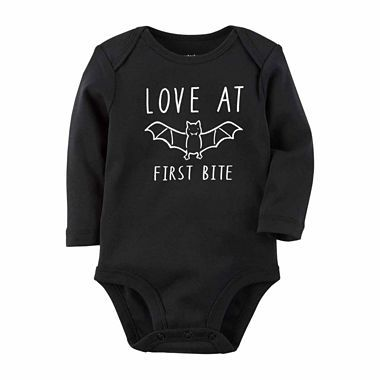 Carters halloween body suit - love at first bite! Bats, trick or treat onesie #ad