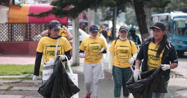 23.000 personas recogieron 46 toneladas de residuos reciclables este domingo -- Foto: EcoColombiano
