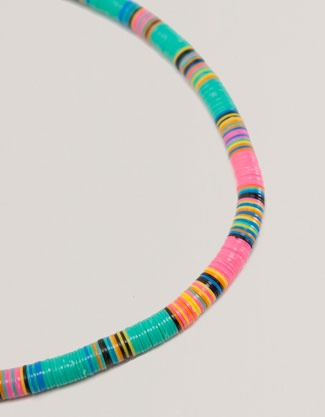 Multi-coloured disc necklace - Beachwear Collection - Oysho