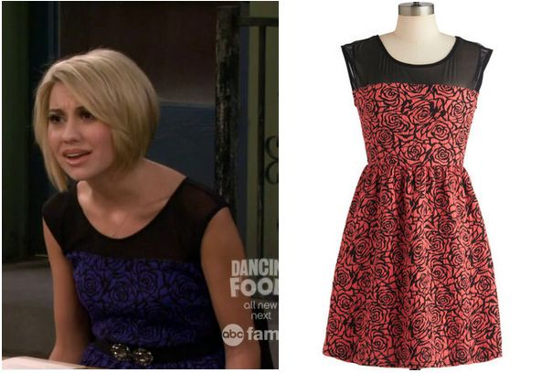 Baby Daddy: Season 2 Episode 2 Riley's Blue Rose and Mesh Dress - ShopYourTv