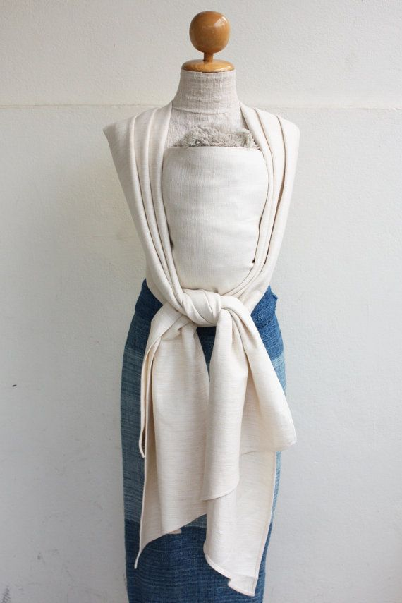 BaBy SaBye hand-woven wrap 30% linen NATURAL COLORS White Сhocolate (Kang Prao