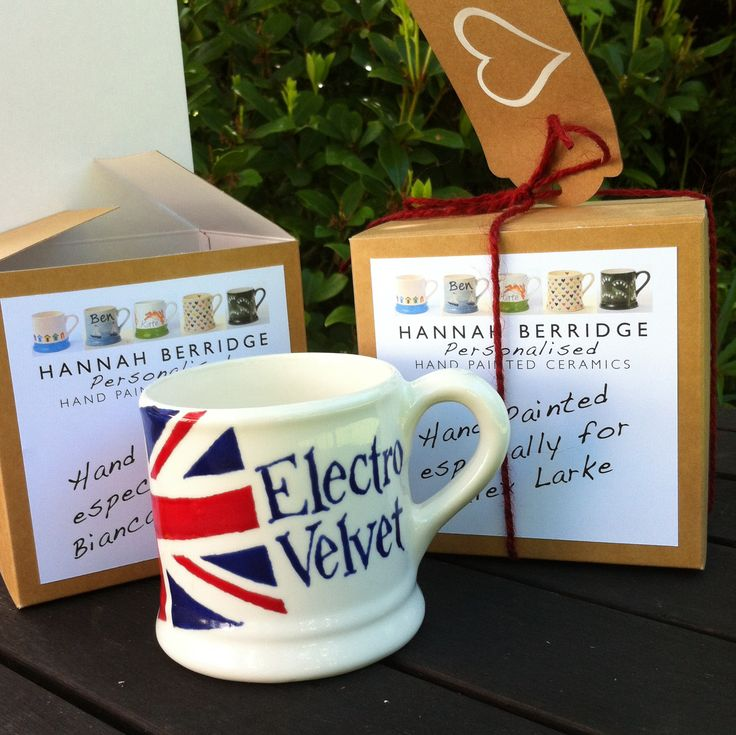 Mug for the British entry 'Electro Velvet' into the Eurovision contest 2015