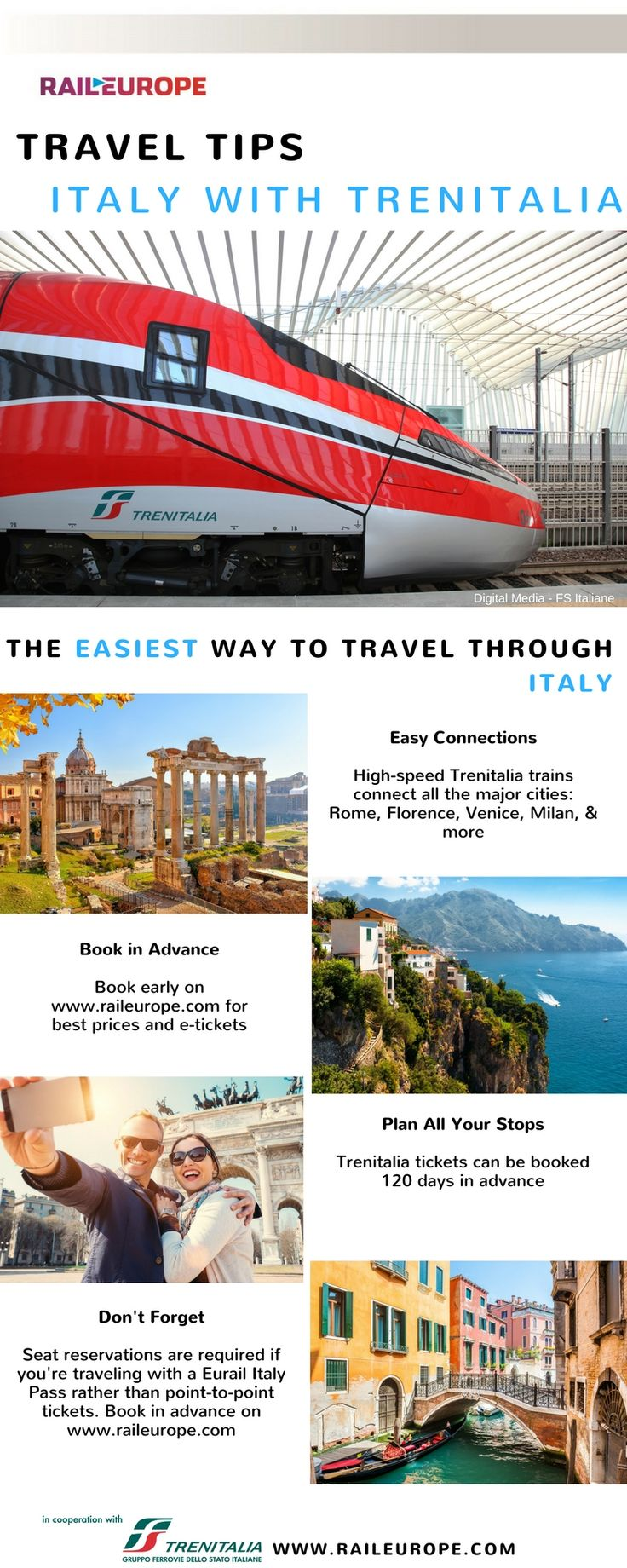 Trenitalia makes it easy and comfortable to travel through #Italy !