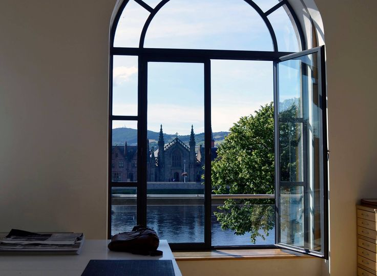 The Arched Window in our Screen Print room in the Highland Print Studio