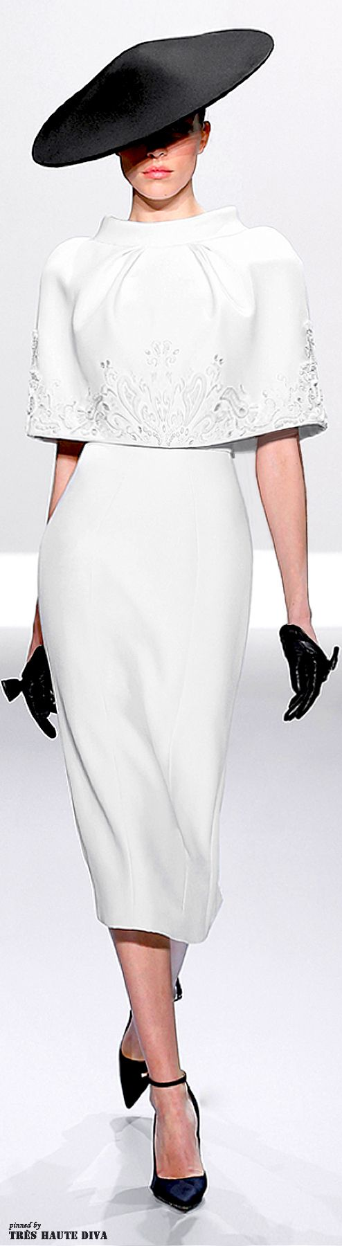 Ralph & Russo Spring/Summer 2014 | The House of Beccaria, I have some lovely fine wool cloth that would look fab in this style