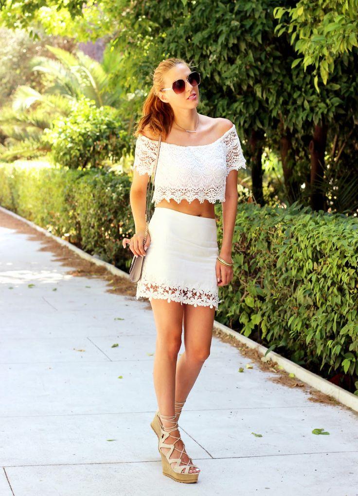 White lace outfit http://pearlsandrosesdiary.blogspot.gr/2015/07/lemon-garden.html