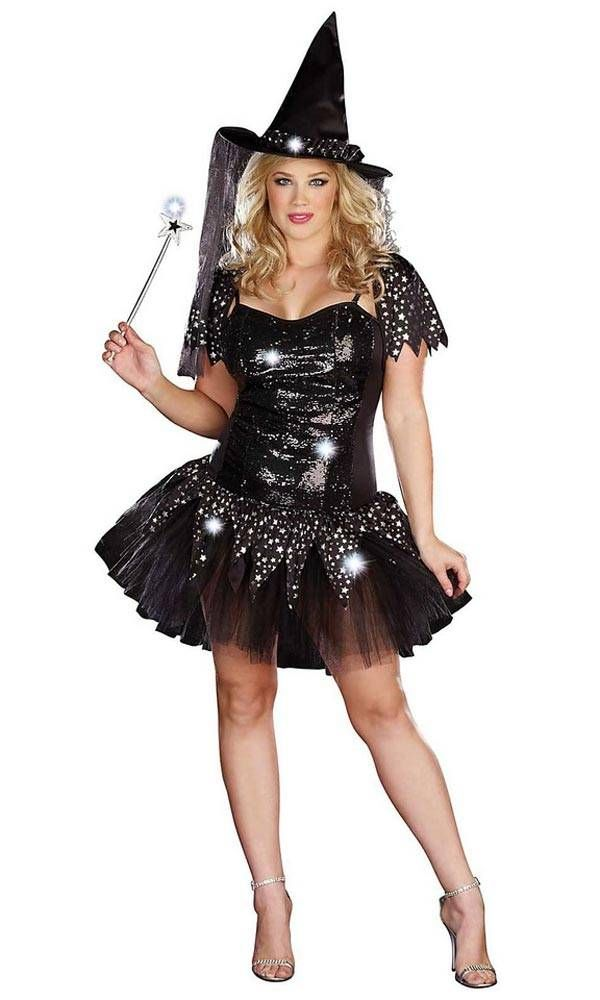 Plus-size women's Halloween costumes can be accessorized with an assortment of jewelry, wigs, shoes, handbags and more to create a stunning end result. Costumes for big men can also be enhanced with a variety of add-ons, like beards and mustaches, capes, robes, and weapons.