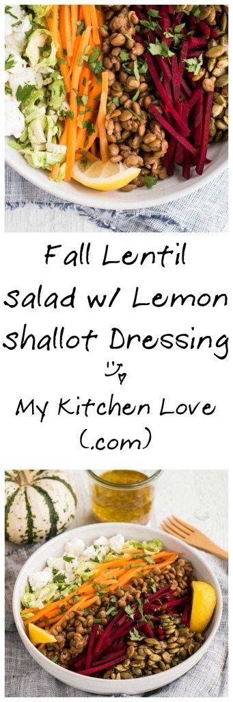 Fall Lentil Salad | My Kitchen Love