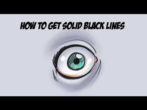 Sketchbook Pro Tutorial : How to Draw Solid Lines