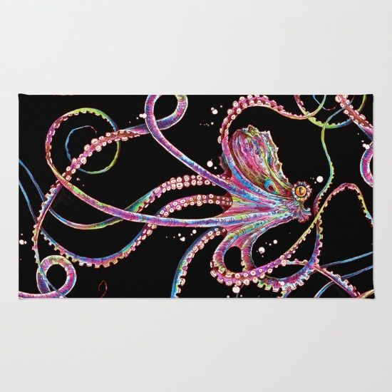 octopus, multi-coloured, cephalopod, tentacles...
