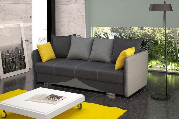 Dieses #Sofa ist ideal für das Wohnzimmer, Verbindet höchste Qualitätsansprüche mit einzigartigem Design. Verschiedene Farbkombination ermöglich die perfekte Anpassung für jeden Raum.  Maße:  Breite: 220 cm Tiefe: 103 cm Höhe: 90 cm Schlaffläche: 197 cm x 147 cm Sitztiefe: 52 cm (78 cm) Sitzhöhe: 47 cm  #Couch #Schlaffunktion #Polstergarnitur #Couchgarnitur