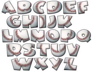 Sports Letter Fonts | Set Includes all letters Upper case. Each upper case letter is ...