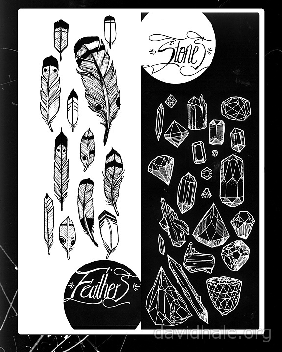 feathers and stones by David Hale