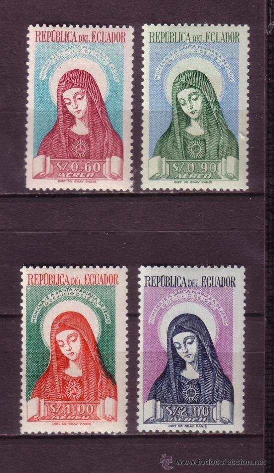 ECUADOR AÉREO 228/31* - AÑO 1952 - CANONIZACIÓN DE SANTA MARIANA DE JESÚS (Sellos - Temáticas - Religión)