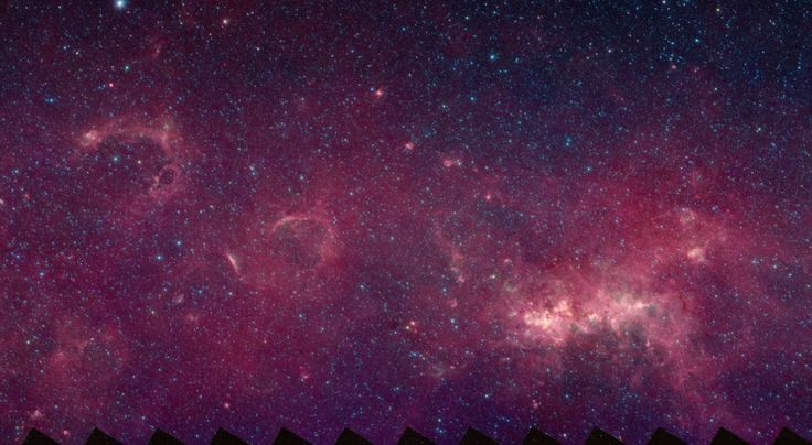 Infrared Image of the Milky WayPhoto of an arm of the Milky Way from Spitzer Space Telescope's GLIMPSE360 Camera. Explore the galaxy with the GLIMPSE Interactive 360 View of Milky Way! Visit the site: Spitzer Space Telescope