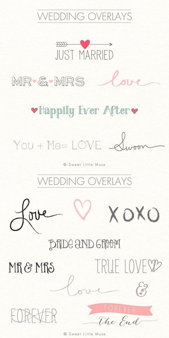 Digital word overlays - wedding. Wedding Fonts