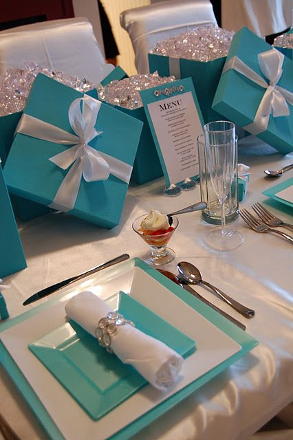 -Breakfast at Tiffany's Brunch centerpiece. Perfect for next day family brunch or bridal shower<3