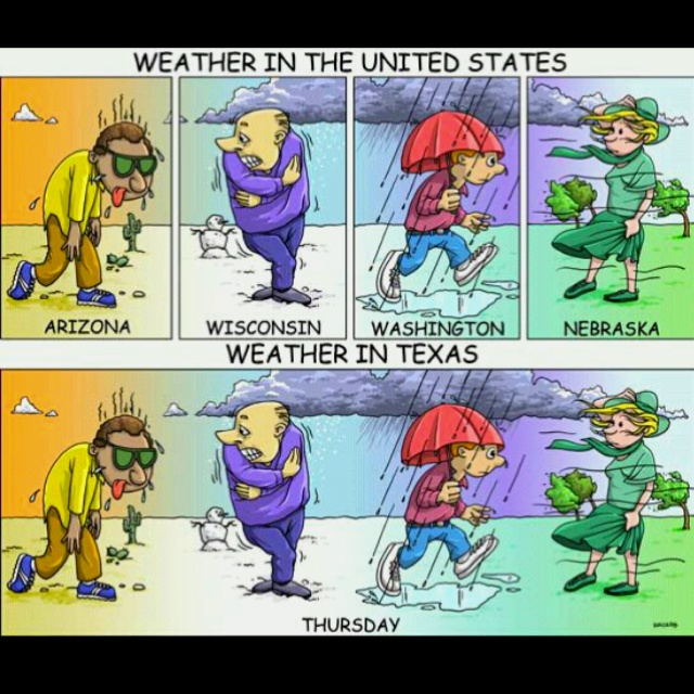 Bipolar Texas weather...   Laughter Is The Best Medicine ...