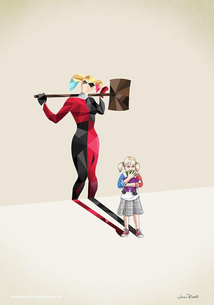 de-nouveaux-dessins-d-enfants-avec-des-ombres-super-hero-par-jason-ratliff-8-harley-quinn