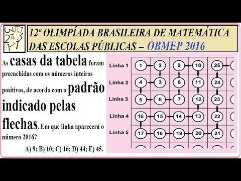 Gabarito da obmep 2016, impa, Instituto de Matemática Pura e Aplicada, SBM, SOCIEDADE BRASILEIRA DE MATEMÁTICA, impa, instituto de matemática pura e aplicada, MINISTÉRIO DA CIÊNCIA TECNOLOGIA INOVAÇÕES E COMUNICAÇÕES, MINISTÉRIO DA EDUCAÇÃO, BRASIL.  EXAME PSICOTÉCNICO, TESTE PSICOTÉCNICO, TESTE PSICOLÓGICO, TESTES DE APTIDÃO OU CONHECIMENTO, TESTE DE QUOCIENTE DE INTELIGÊNCIA (QI), YouTube