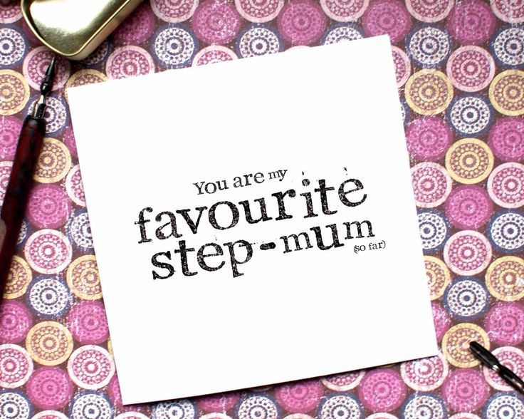 Funny Step Mum Card, Funny Mum Card, Mothers Day, Step Mother Card, Step Mom Card, Custom Card, Mothers Day, CB17 by BEEcardsUK on Etsy https://www.etsy.com/uk/listing/501205584/funny-step-mum-card-funny-mum-card