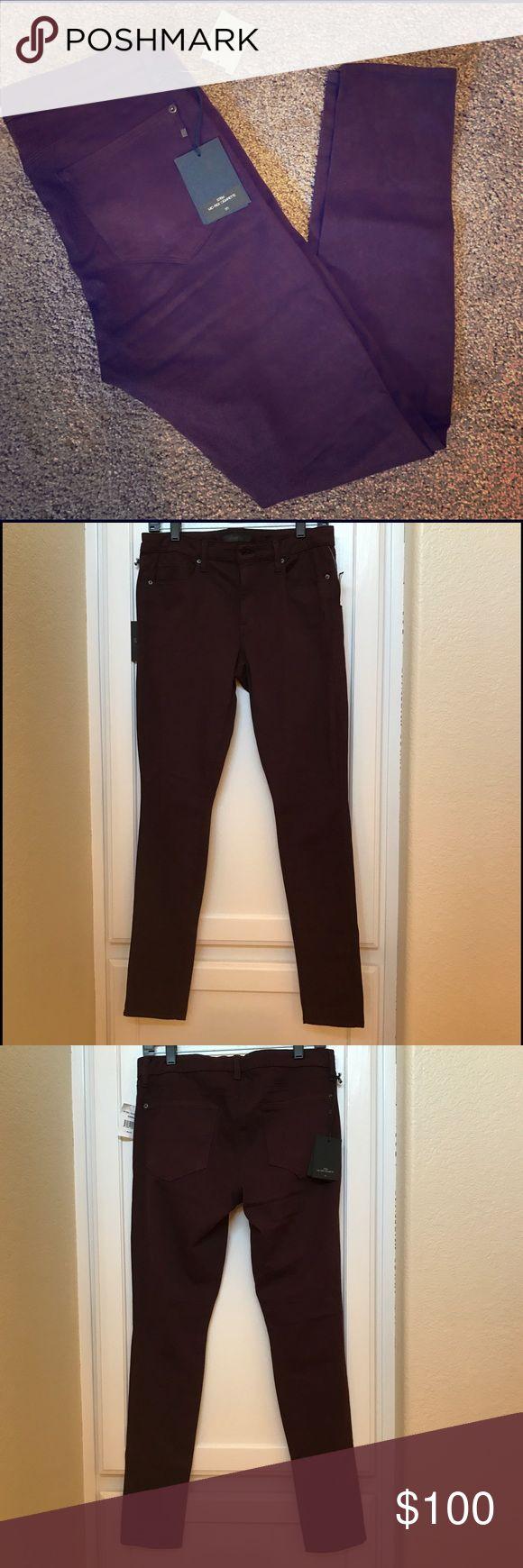 NWT Genetic stem Bordeaux color skinny jeans NWT Bordeaux color stem mid-rise cigarette skinny jeans.  Not denim, feels like a luxe sateen. Bordeaux color. Gorgeous Genetic Denim Jeans Skinny