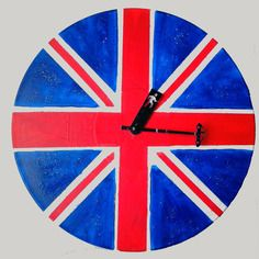 Horloge drapeau uk vinyle 33t