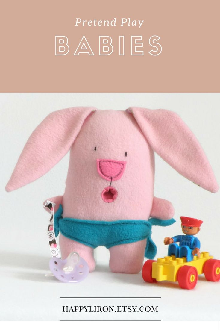 Pink Bunny Plushy, Cute Baby Gift, Plush Toy, Baby Doll Pacifier, Fabric Plushies, Stuffed Bunny, Toddler Cute Gift, Baby Girl shower gift, Cute Toy, Gift for Boys, Gift for Girls #happyli #giftforkids #handmade #plushies #forkids #etsyshop
