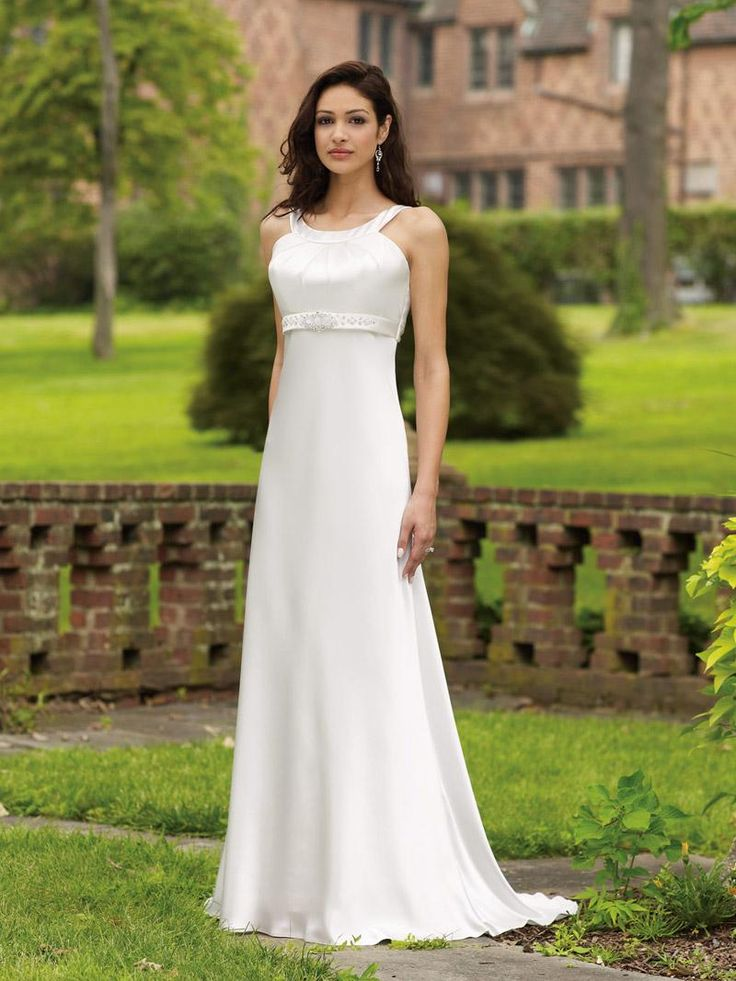 Elegant and classy simple wedding dresses simple for Mid length wedding dress
