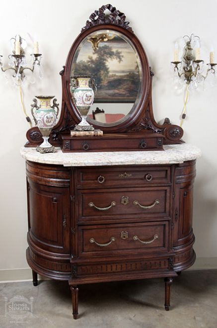 Antique French Louis XVI Walnut Chest of Drawers - Online Antique Store | www.inessa.com