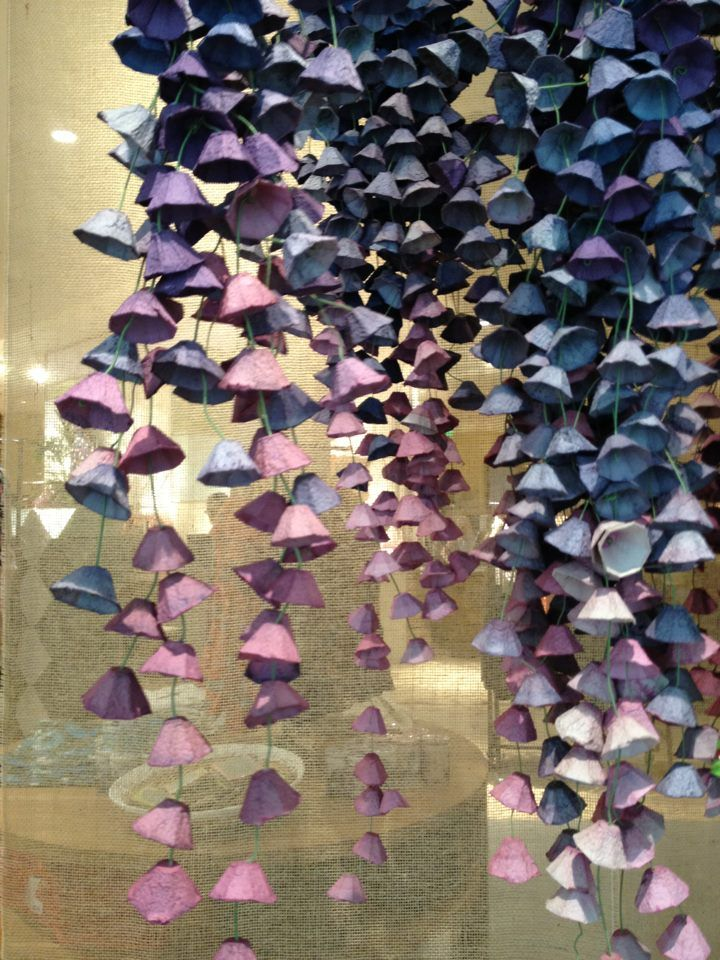 Gorgeous anthropologie flowers made from cardboard egg cartons.