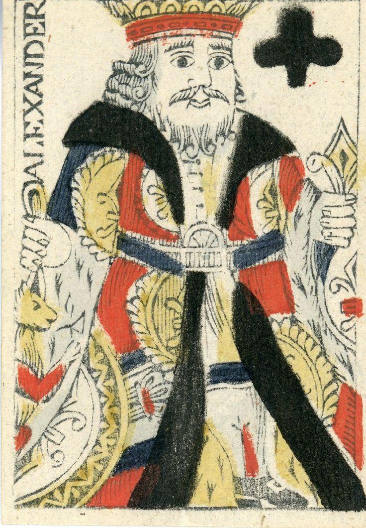 """Gammelt spillekort fra 1790'erne. Karton. 0,081 x0,057 m. Kortene har på bagsiden et rødprikket mønster. Spar es er stemplet med det danske våben. Billedekortene har navne. På indpakningspapiret ses med rødt påtrykt et kronet våbenskjold med Danmarks, Norges og Sveriges våben, holdt af to vildmænd. Derudenom læses: """"FIINE KAART fabrikeret af C E Süsz i Kiøbenhavn"""". Süsz var fabrikant af spillekort i 1790erne. Har tilhørt lottoinspektør Niels Collin, d. 1797. Skænket af prof. Edgar Collin."""