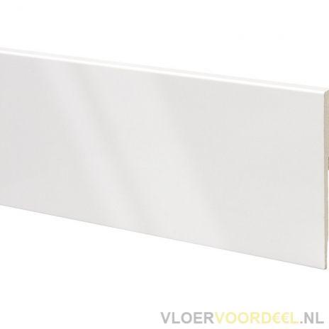 Hoogglans MDF plint folie wit 10cm x 225cm Blok