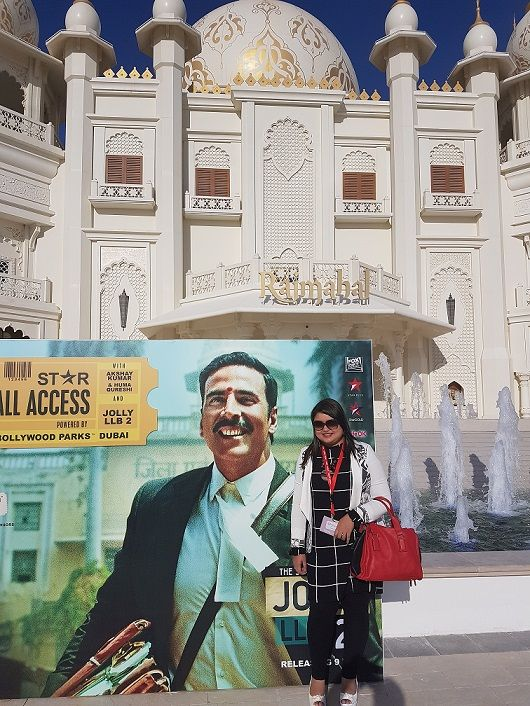 Bollywood superstar, Akshay Kumar and Huma Qureshi promoted their upcoming film Jolly LLB 2 at the Bollywood Parks  Dubai, part of Dubai Parks and Resorts, the Middle East's largest multi-themed le…